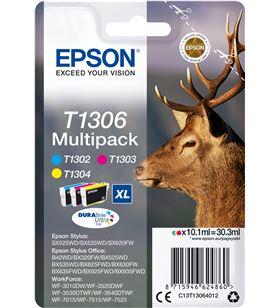 Cartucho tinta Epson t1306 - multi-pack cian/magentaire acondicionado marillo - 30.3ml - ci C13T13064012 - EPS-C13T13064012