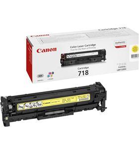 Canon -718A toner amarillo 718a - 2900 páginas para impresoras i-sensys lbp7660cd 2659b002 - CAN-718A