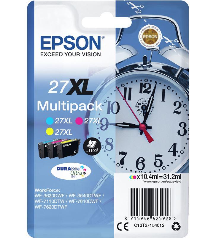 Epson C13T27154012 cartucho tinta multipack 27xl - amarillo / cian / magenta - 31.2ml - - 33622530_7677566653