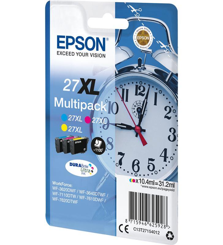 Epson C13T27154012 cartucho tinta multipack 27xl - amarillo / cian / magenta - 31.2ml - - 33622530_8588889411