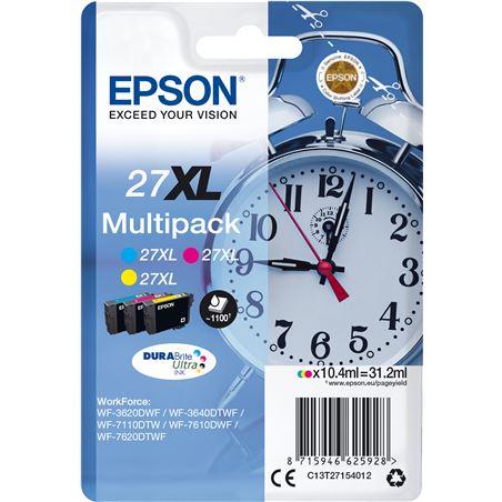 Epson C13T27154012 cartucho tinta multipack 27xl - amarillo / cian / magenta - 31.2ml - - EPS-C13T27154012