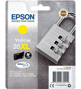 Cartucho tinta amarillo Epson 35xl - 20.3ml - candado - compatible según es C13T35944010 - EPS-C13T35944010