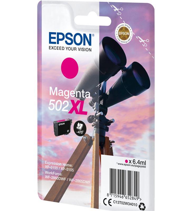 Cartucho tinta Epson 502xl - magenta(6.4ml) - binoculares C13T02W34010 - 52270527_5695389520