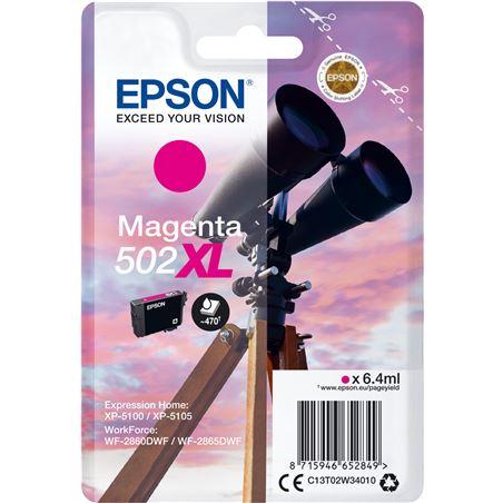 Cartucho tinta Epson 502xl - magenta(6.4ml) - binoculares C13T02W34010 - EPS-C13T02W34010