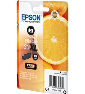 Cartucho tinta photo negro Epson 33xl - 8.1ml - naranja - compatibilidad se C13T33614012 - EPS-C13T33614012