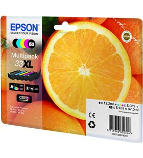 Cartucho tinta Epson multipack 33xl - 5 colores - 47ml - naranja C13T33574011 - 37186965_0415369014