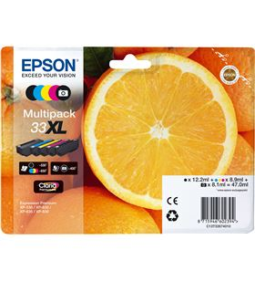 Cartucho tinta Epson multipack 33xl - 5 colores - 47ml - naranja C13T33574011 - EPS-C13T33574011