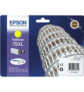 Cartucho tinta amarillo Epson 79xl - 17.1ml - torre de pisa - para wf-4630d C13T79044010 - EPS-C13T79044010