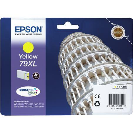 Epson C13T79044010 cartucho tinta amarillo 79xl - 17.1ml - torre de pisa - para wf-4630d - EPS-C13T79044010