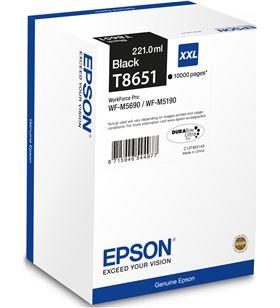 Cartucho tinta Epson negro xxl t8651 - compatible con workforce pro wf-m569 C13T865140 - EPS-C13T865140