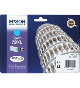 Epson C13T79024010 cartucho tinta cian 79xl - 17.1ml - torre de pisa - para wf-4630dwf / - EPS-C13T79024010