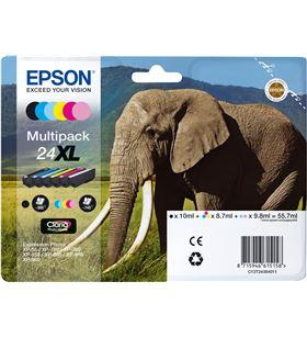 Cartucho tinta Epson multipack 24xl - 55.7ml - 6 colores (negro / amarillo C13T24384010 - EPS-C13T24384010