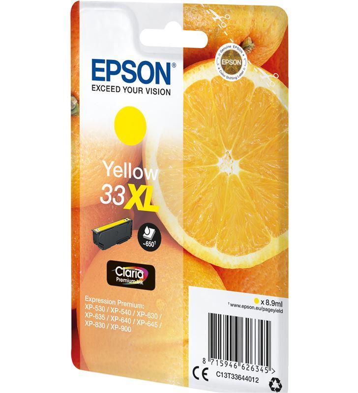 Epson C13T33644012 cartucho tinta amarillo 33xl - 8.9ml - naranja - para xp-530 /xp-540 - 33622572_6084179694