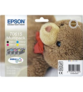 Cartucho tinta Epson t0615 multi-pack 8 ml negro/color - osito de peluche C13T06154010 - EPS-C13T06154010