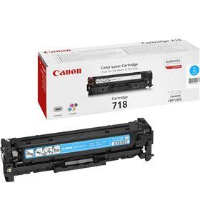 Toner cian Canon 718c - 2900 páginas para impresoras i-sensys lbp7660cdn - 2661B002 - CAN-718C