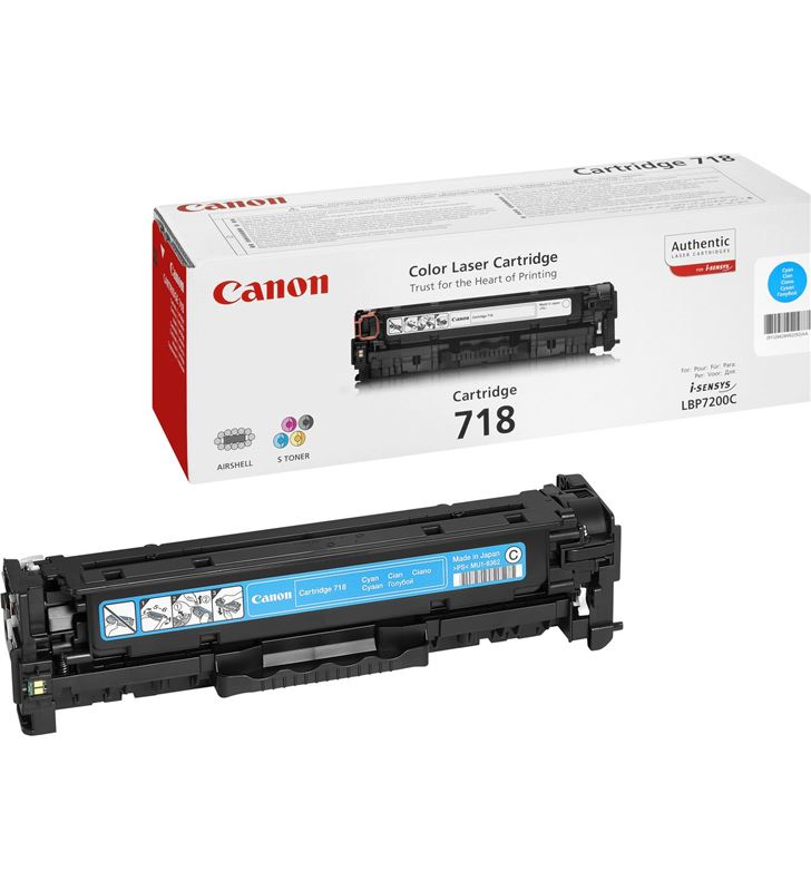 Canon -718C toner cian 718c - 2900 páginas para impresoras i-sensys lbp7660cdn - 2661b002 - CAN-718C