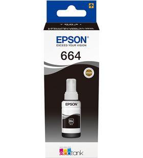 Botella tinta recargable Epson t6641 para ecotank negro C13T664140 - EPSC13T664140