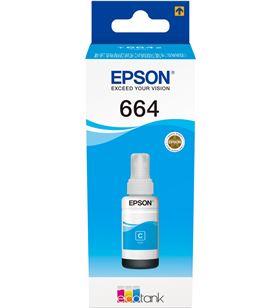 Botella tinta recargable Epson t6642 para ecotank cyan C13T664240 - EPSC13T664240