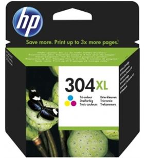 Cartucho de tinta Hp nº 304xl multicolor N9K07AE Fax digital cartuchos - 0889894860798