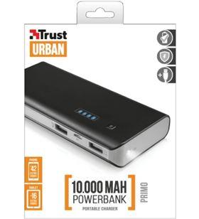 Power bank 10,000 mah Trust primo negro + cable TRU21149.. - TRU21149