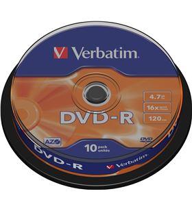 Verbatim B-DVD-R 4.7GB 10U dvd-r advanced azo 16x 4.7gb tarrina 10 unidades verdvd+r10 - VERDVD-R-10
