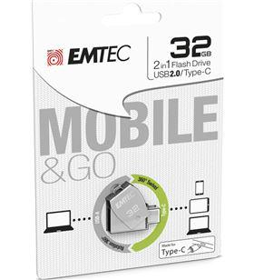 Emtec pendrive dual usb 2.0/tipo c t250 32 gb e158208 - EMTE158208