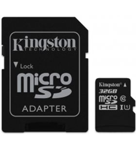 Nueva memoria micro sdhc 32gb clase 10 kingston 80 mb/s + adaptador kinsdcs_32gb - KINSDCS_32GB