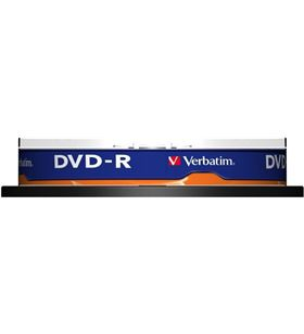 Bobina 10 dvd -r Verbatim 4,7 gb 16x VERDVD-R-10 DVD Grabador - 023942435235