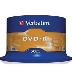 Dvd-r Verbatim advanced azo 16x 4.7gb tarrina 50 unidades 43548 - 462967_0081227084