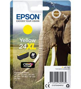 Cartucho Epson 24xl 8.7ml amarillo - elefante C13T24344012 - EPS-C13T24344012