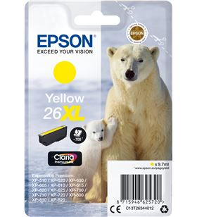 Cartucho Epson 26xl 9.7ml amarillo - oso polar C13T26344012 - EPS-C13T26344012