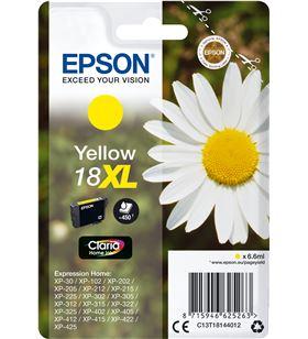 Cartucho Epson 18xl 6.6ml amarillo - margarita C13T18144012 - EPS-C13T18144012