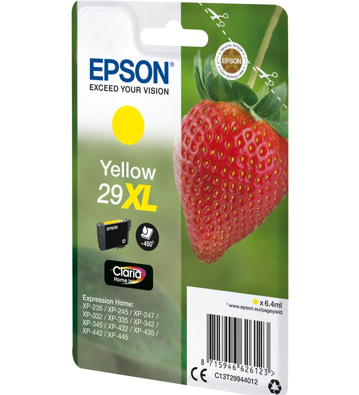 Cartucho amarillo Epson 29xl claria home - 6.4ml - fresa C13T29944012 - 33622550_7561169646