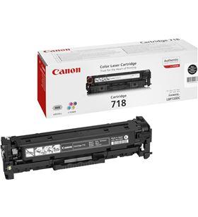 Toner negro Canon 718bk - 3400 páginas para impresoras i-sensys lbp7660cdn 2662B002 - CAN-718BK