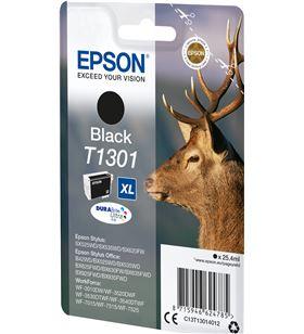 Cartucho tinta negro Epson t1301xl - 25.4ml - ciervo - compatible según esp C13T13014012 - EPS-C13T13014012