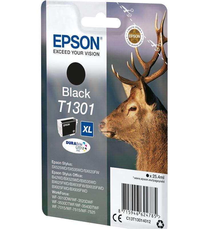 Cartucho tinta negro Epson t1301xl - 25.4ml - ciervo - compatible según esp C13T13014012 - 33622416_5418474321