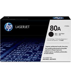 Toner negro Hp nº80a 2700 páginas para Hp laserjet pro 400 m401 / m425 CF280A - CF280A
