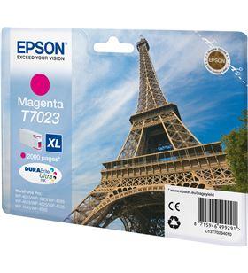 Epson -T70234010 cartucho tinta magenta t7023xl - 45.2ml - torre eiffel - para wp-4595 c13t70234010 - EPS-T70234010