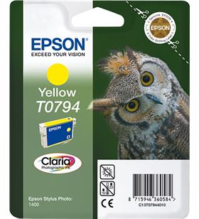 Cartucho tinta amarilla Epson t0794 - 11.1ml - búho - compatible segun espe C13T07944010 - EPS-C13T07944010