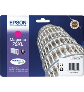 Cartucho tinta magenta Epson 79xl - 17.1ml - torre de pisa - para wf-4630dw C13T79034010 - EPS-C13T79034010