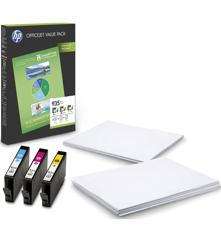 Pack Hp 935xl office - 3 cartuchos tinta (1x cian - 1x magenta - 1x amarill F6U78AE - F6U78AE