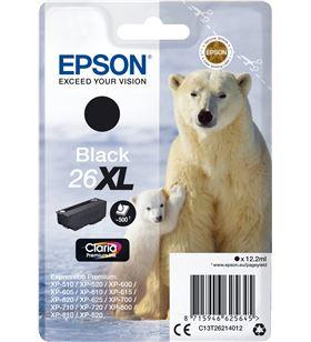 Cartucho Epson 26xl 12.2ml negro - oso polar C13T26214012 - EPS-C13T26214012