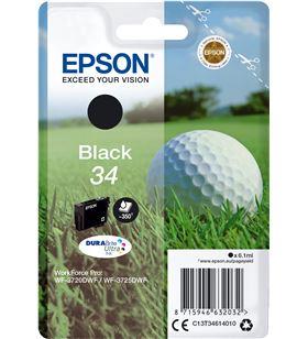 Cartucho tinta negro Epson t3461 34 - 6.1ml - durabrite - bola de golf C13T34614010 - EPS-C13T34614010