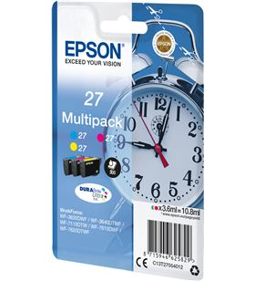Cartucho tinta Epson multipack 27 10.8ml 3 colores ( amarillo / cian / mage C13T27054012 - EPS-C13T27054012