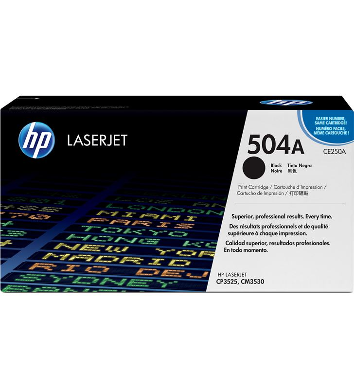 Hp CE250A toner negro 5000 páginas para laserjet cm3530 / cp3520 / cp352 - CE250A