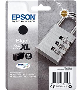 Cartucho tinta negro Epson 35xl - 41.2ml - candado - compatible según espec C13T35914010 - EPS-C13T35914010