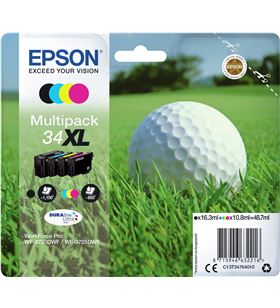 Cartucho tinta Epson multipack durabrite ultra ink 34xl - 4 colores (negro C13T34764010 - EPS-C13T34764010