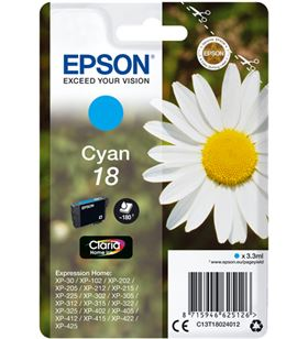 Tinta cian Epson 18 claria home EPSC13T18024012 Otros productos consumibles - EPSC13T18024012