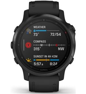 Reloj inteligente Garmin fenix 6s pro black w/black band (glass) 010_02159_14 - GAR010_02159_14