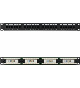 Sihogar.com patch panel nanocable 10.21.2124 24 puertos - 19''/48.26cm - 1u - para rj45 - NAN-PATCH 10 21 2124